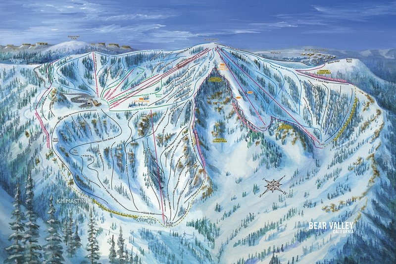 Bear Valley Snow Bowl Trail Map