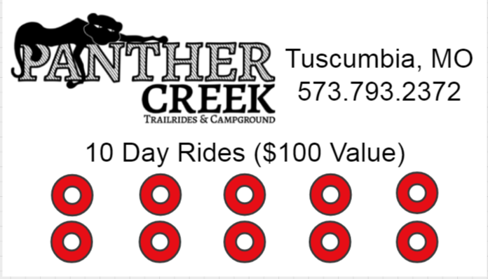 10 Day Rides - $50 ($100 Value)