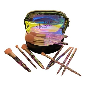 10pc Brush Set W/Cosmetic Bag