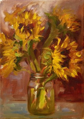 Sunflowers for Jenny, Giclee Print