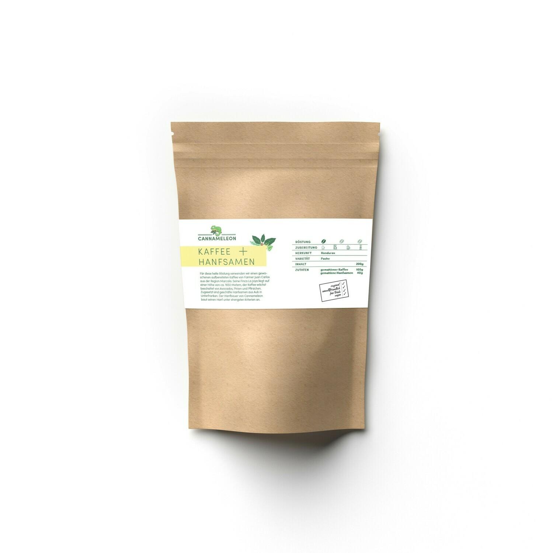 Cannameleon Kaffee mit Hanfsamen