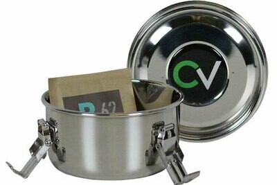 CVault Luftdichter Aufbewahrungsbehälter aus Edelstahl