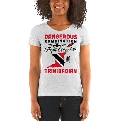 Dangerous Combination - Flight Attendant And Trinidadian - Ladies' Short Sleeve T-Shirt