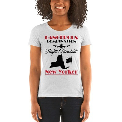 Dangerous Combination - Flight Attendant And New Yorker - Ladies' Short Sleeve T-Shirt
