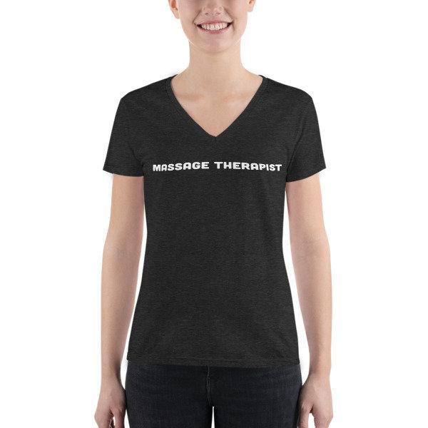 Massage Therapist - Junior Fashion Deep V-neck Tee