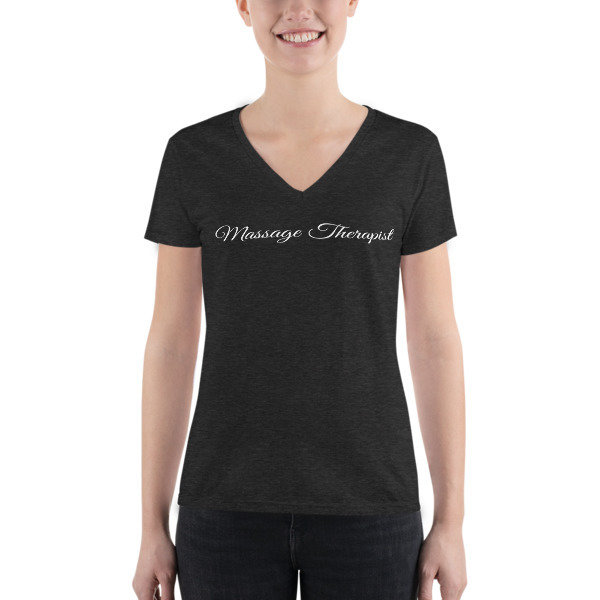Massage Therapist - Junior Fashion Deep V-neck Tee
