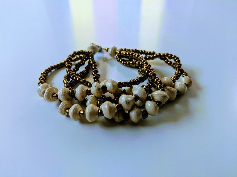 Friendship Paperbead Bracelet