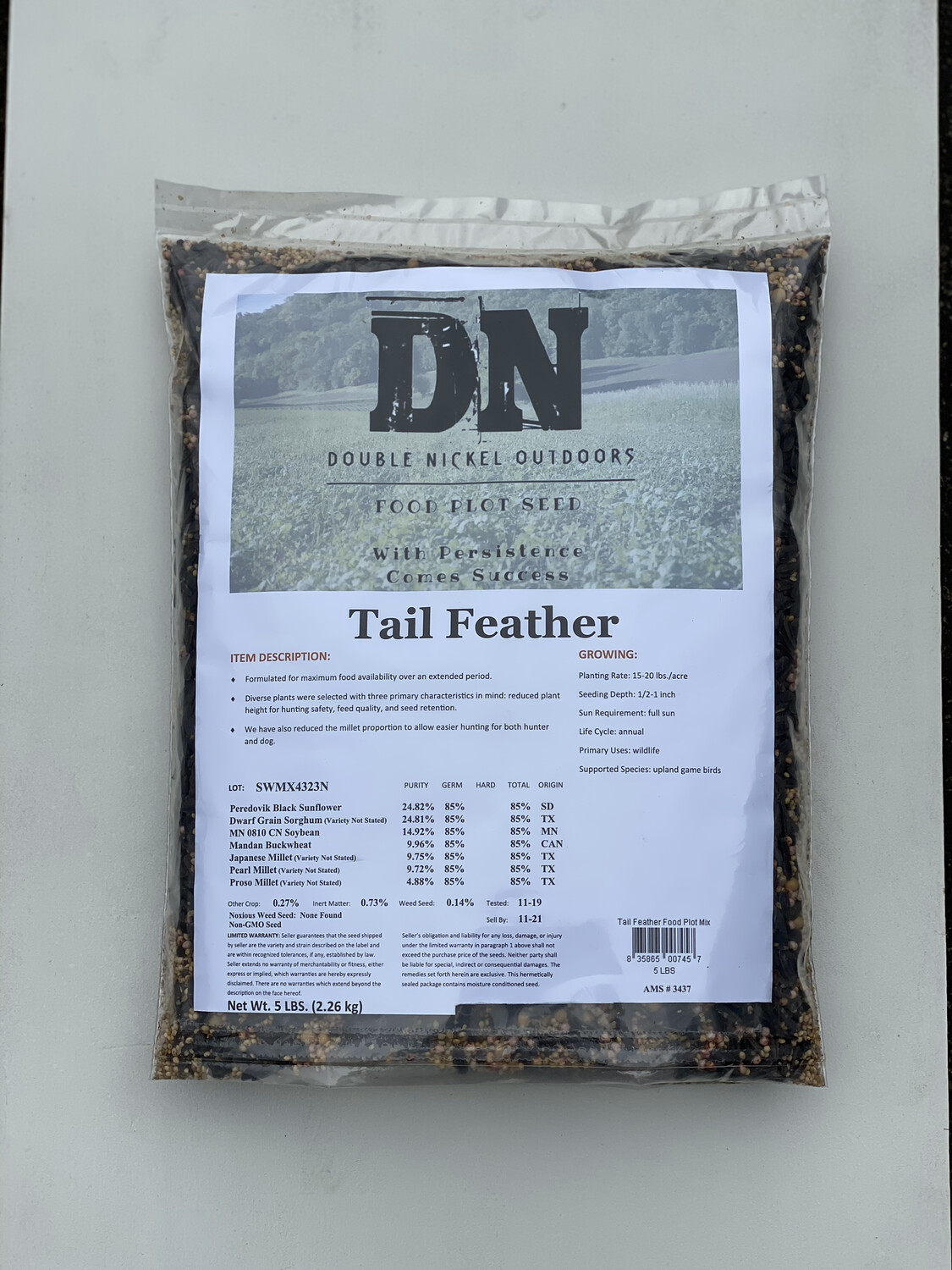 Tail Feather Seed 5lbs Bag