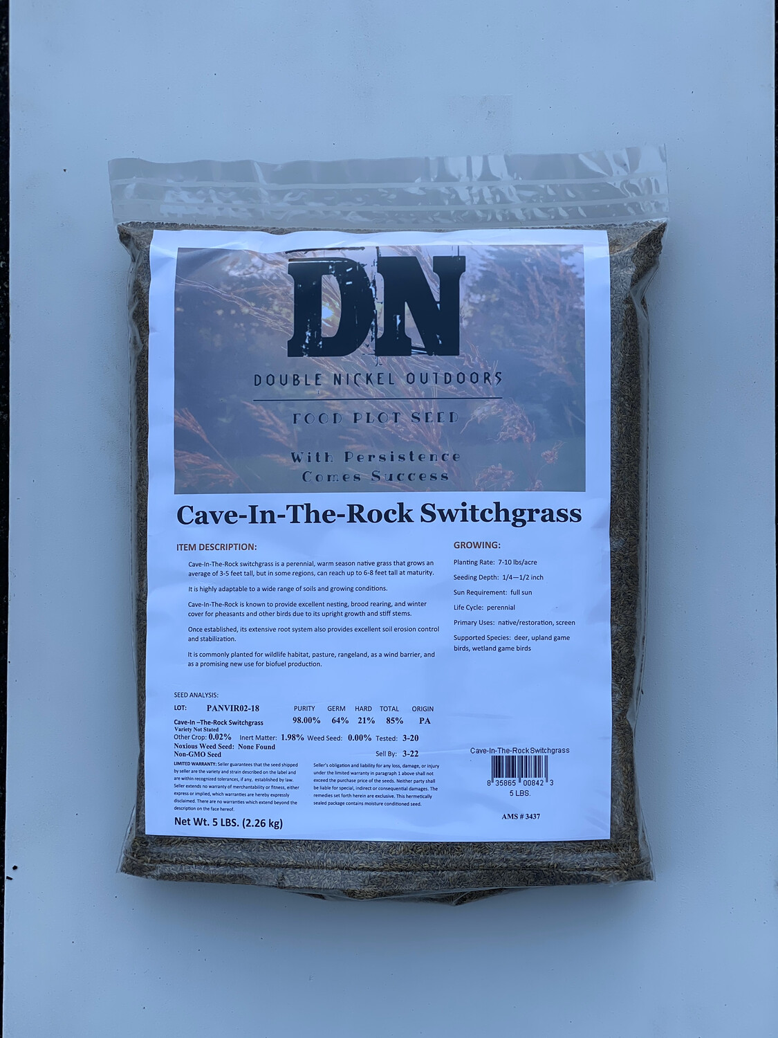 Cave N Rock Switchgrass 5lb bag