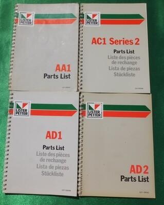 A Range Parts Lists