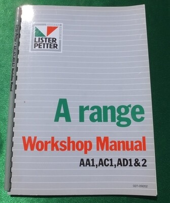 A Range Workshop Manuals