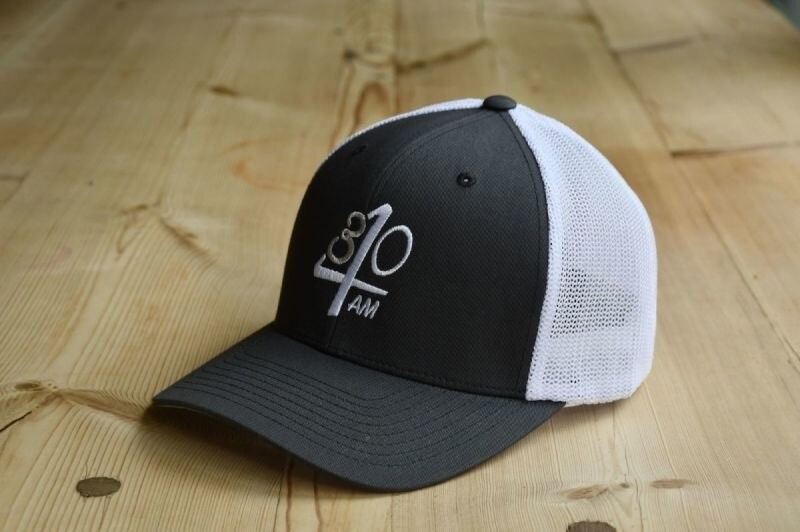 430AM Flexfit Mesh 2 Tone Trucker Dark Grey / White