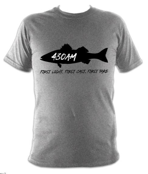 430AM SEA BASS TEE (0vercast Grey)