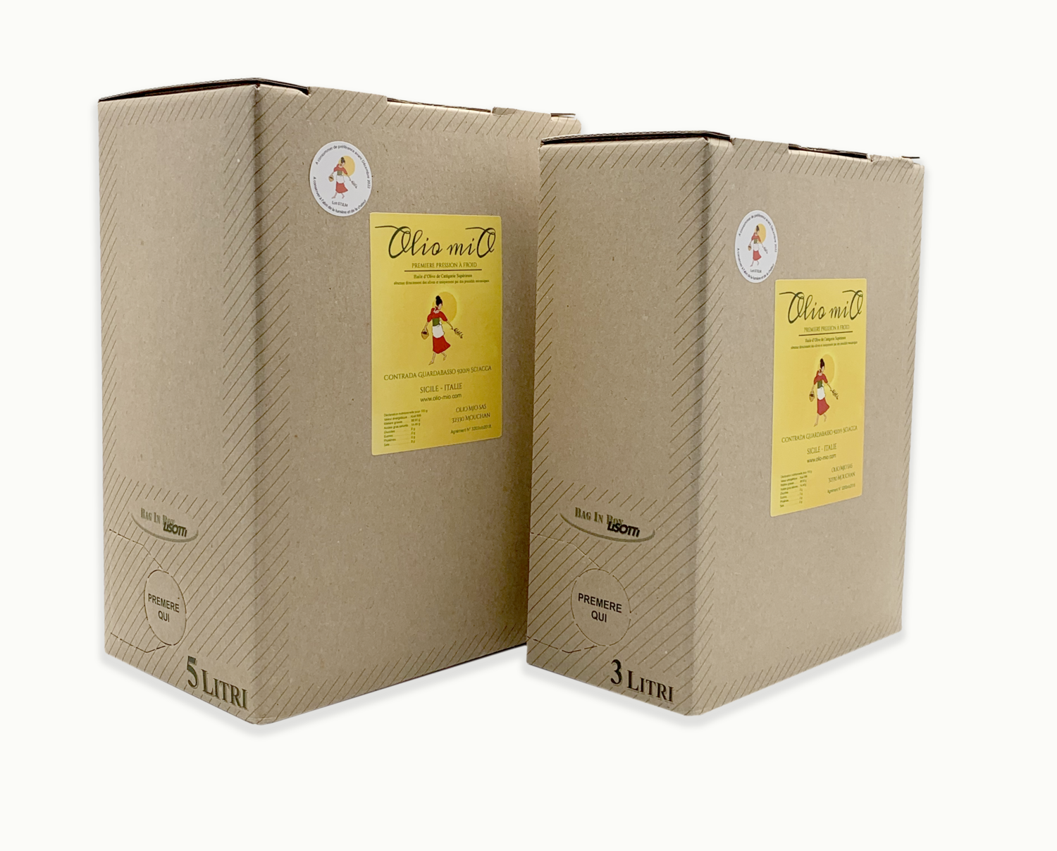 Bag-in-Box Huile d'olive vierge extra, 5 litres