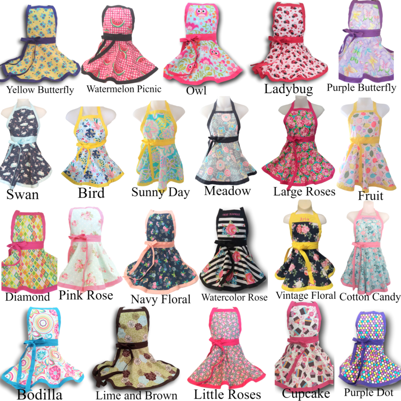 Kids Apron-Many Prints and Personalization Available