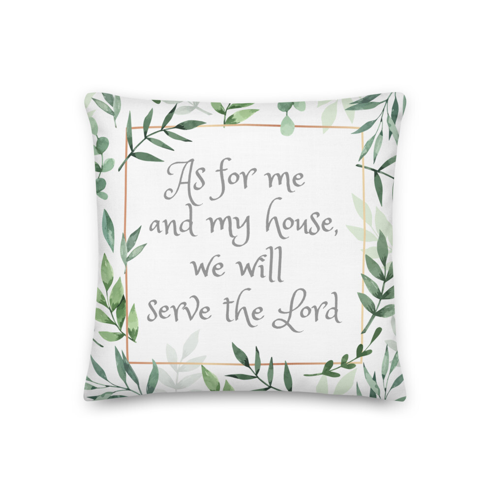 Joshua 24:15 Bible Verse Home Decor Throw Pillow