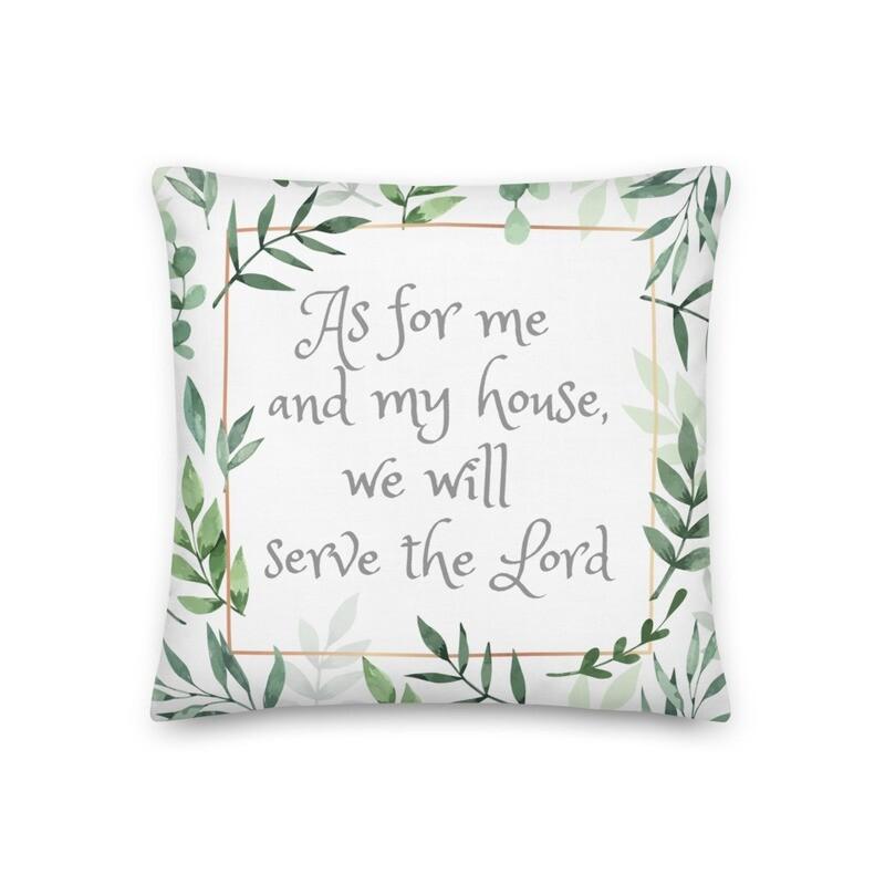 Joshua 24:15 Bible Verse Home Decor Throw Pillow