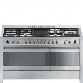 SMEG A5-8 150cm Opera Range Dual Cavity Stainless Steel Cooker with Gas hob #DEMO/B-GRADE UNIT (2 year warrantee)