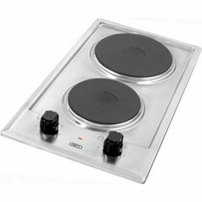 DEFY 30cm Stainless Steel 2 Plate Solid Hob (DHD401)