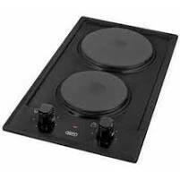 DEFY 30cm Black 2 Plate Solid Hob (DHD400)