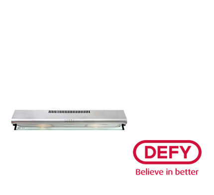DEFY 90cm Gemini Cookerhood (DCH296) - Stainless Steel