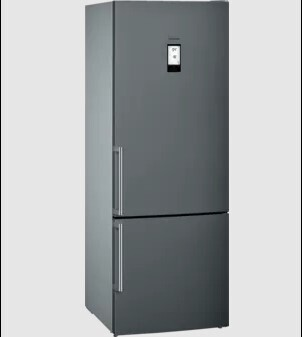 SIEMENS (KG56NAX30U) 505L Fridge/Freezer; Black stainless steel