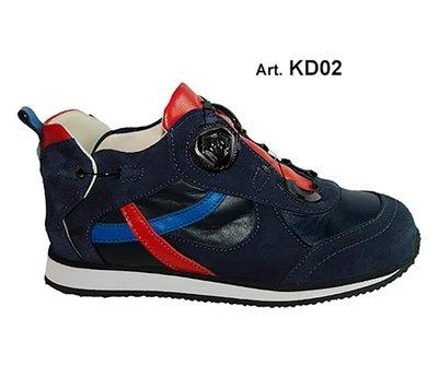 KID - blue/red - Fodera LISCIA - Tacco Piatto