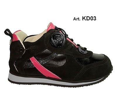 KID - black/pink - Fodera LISCIA - Tacco Piatto