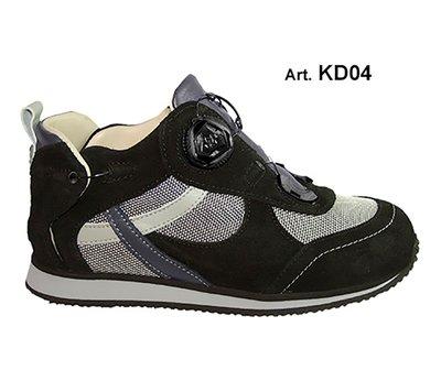 KID - black/grey - Fodera LISCIA - Tacco Piatto