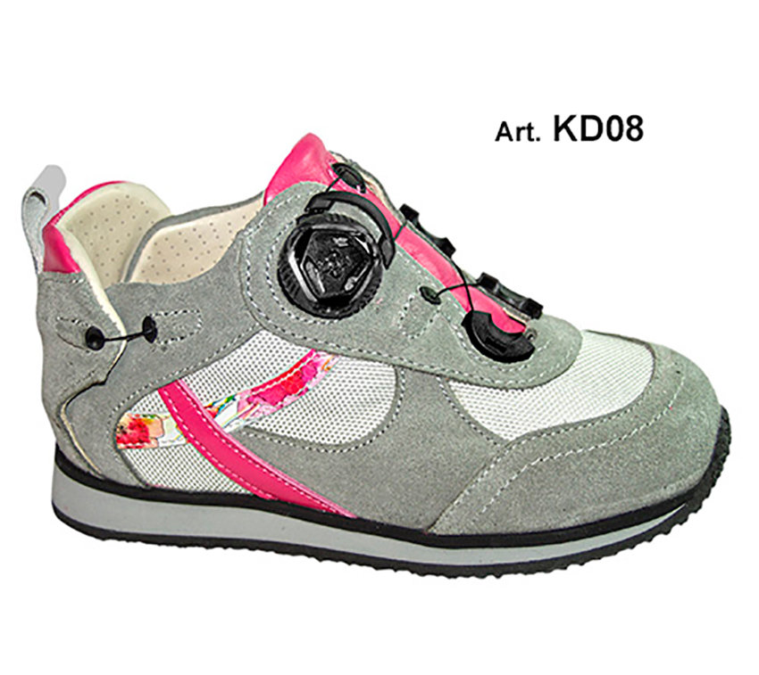 KID - grey/pink - Fodera FORATA - Tacco Piatto