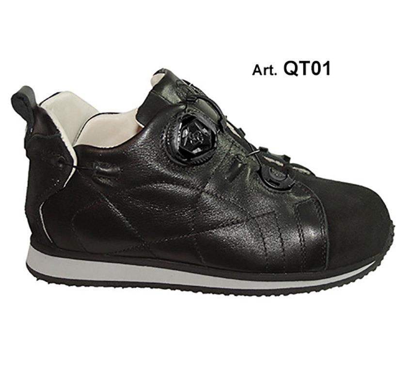 QUILT - black - Fodera LISCIA - Tacco Piatto