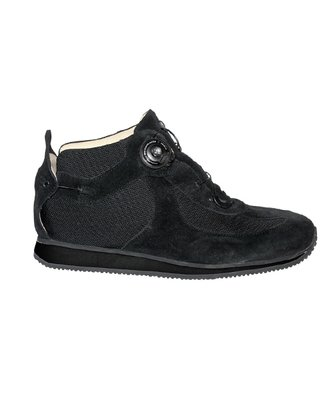 WALK BOOT - black - Smooth lining - Rolling heel