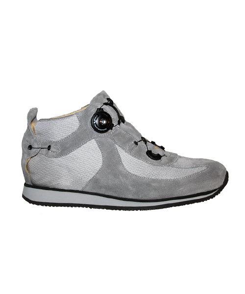 WALK BOOT - grey - Smooth lining - Rolling heel