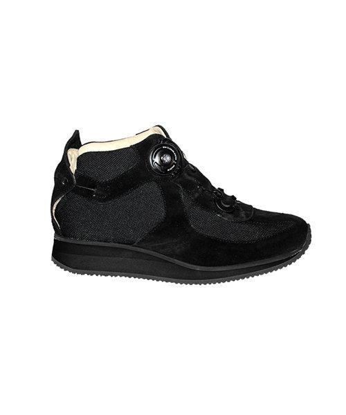 WALK BOOT - black- Smooth lining - Rolling heel