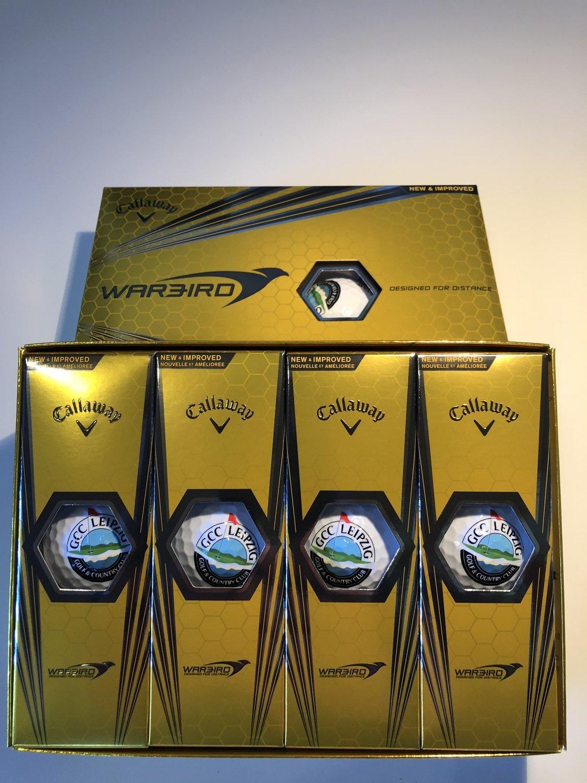 1 Dz Callaway Warbird Golfbälle mit GCC-Logo