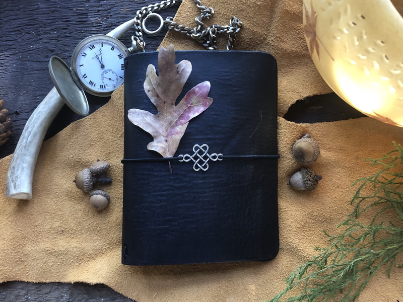 Black Leather Cover Planner