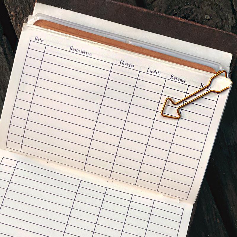 Ledger-Check Register-Bookkeeping Log