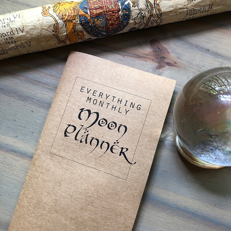 Everything Moon Planner OCTOBER 2020 MONTHLY SUBSCRIPTION FREE U.S. SHIPPING