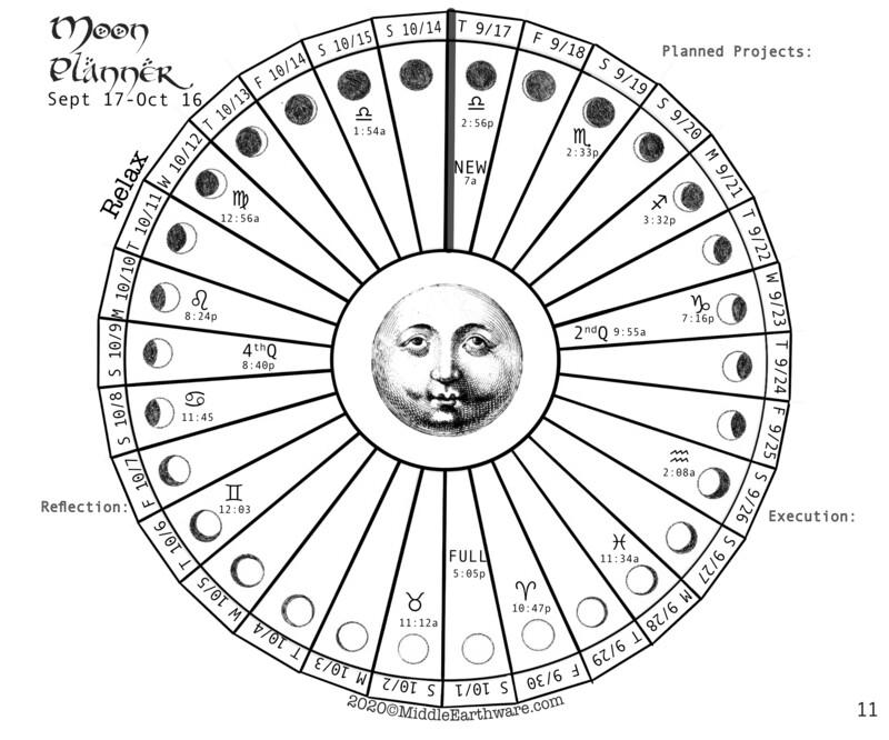 FREE Moon Planner Sept 17-Oct 16 DIGITAL DOWNLOAD