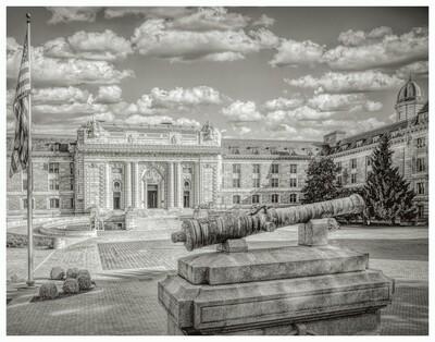 Bancroft Hall Monochrome Print