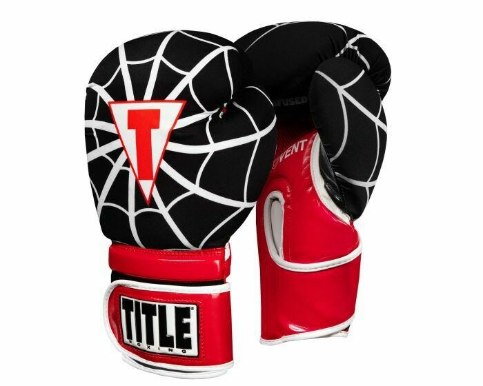 TITLE Infused Foam Spider Web Boxing Gloves