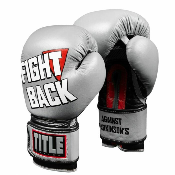 TITLE Fight Back Leather Boxing Gloves