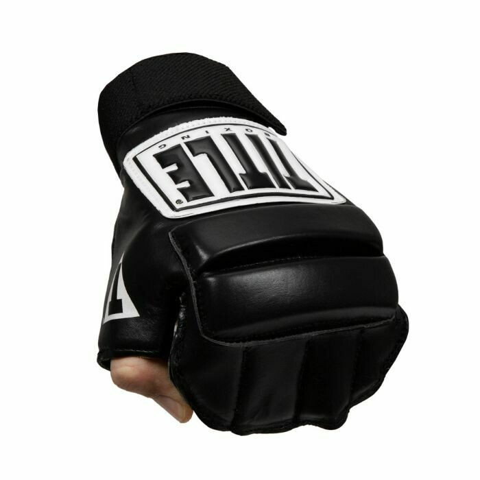 TITLE Leather Wristwrap Speed Bag Gloves