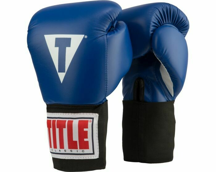 TITLE Classic USA Boxing Competition Gloves-Elastic