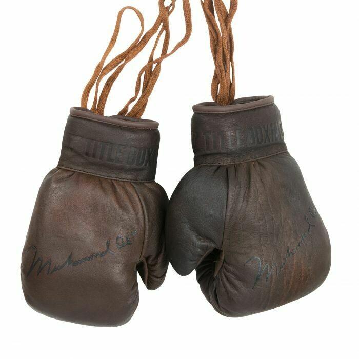 Ali Collectors Leather Autograph Gloves