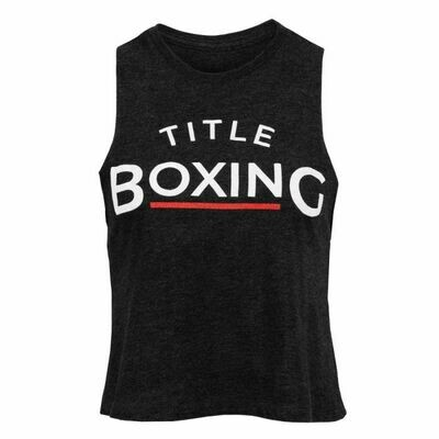 TITLE Boxing Club Womens Chronicle Racerback Cropped Tank