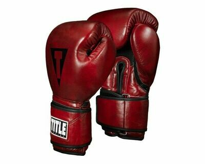 TITLE Boxing Blood Red Leather Bag Gloves