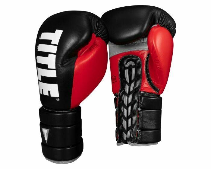 TITLE Boxing Leather Enforcer Pro Sparring Gloves