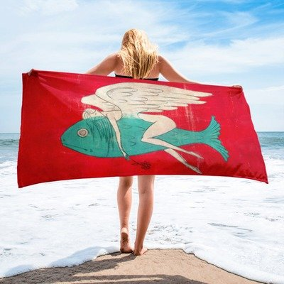 Flying on a Dream Beach Towel