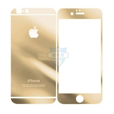 TEMPERED GLASS FRONT AND BACK PROTECTOR APPLE IPHONE 6G PLUS / 6S PLUS GOLD